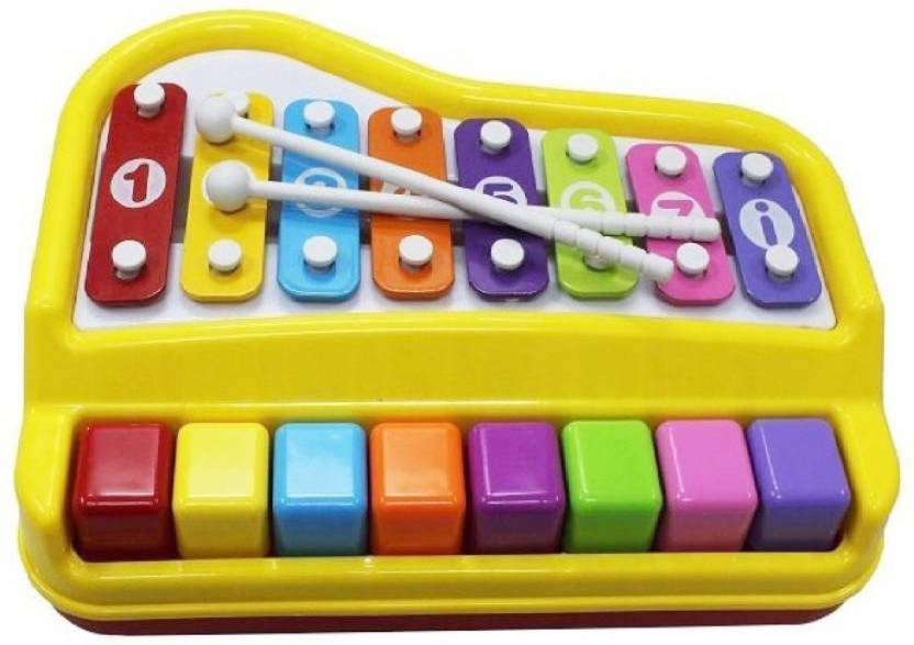 M Alive 8 Key Piano Organ And Xylophone With 2 Mallets And 6pcs Of