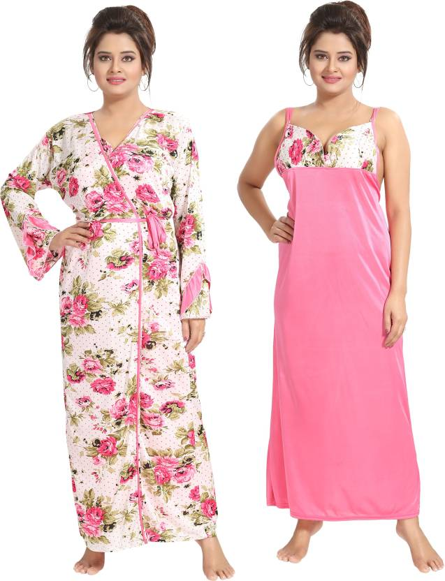 c0909716e Shopping Station Women Nighty with Robe