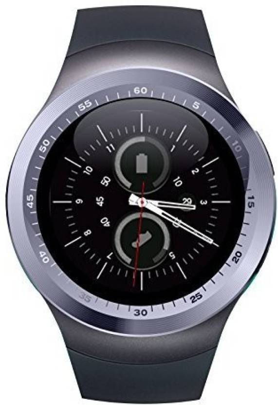 MOBILE LINK xiomi Y1SILVER Bluetooth Smartwatch With Sim & Tf Card Support  With Apps Like Facebook And Whatsapp Touch Screen Multilanguage Suitable