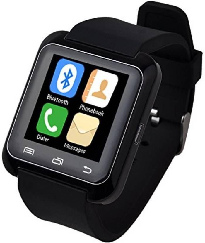 d9f2b86b6fd Callmate A8 Bluetooth SmartWatch Black Smartwatch Price in India ...