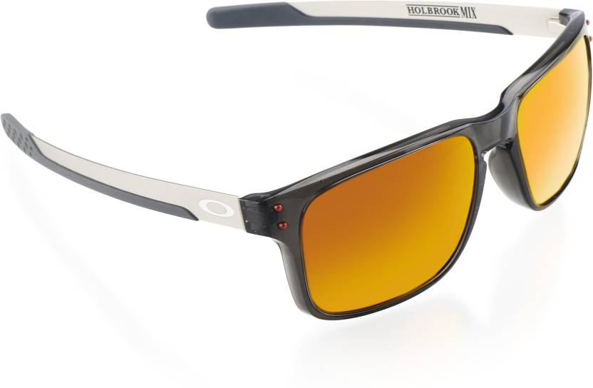 94978b73b8c Buy Oakley HOLBROOK MIX Wayfarer Sunglass Red For Men Online   Best ...