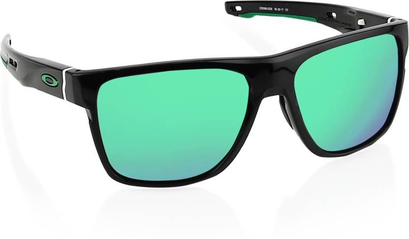 36bbffc5604 Buy Oakley CROSSRANGE XL Wayfarer Sunglass Silver For Men Online ...
