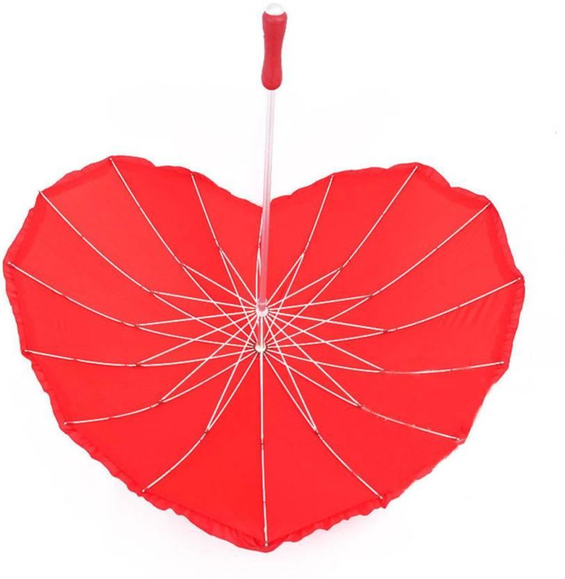 d3a4ce1fbcdb0 ShopyBucket Superb Looking Romantic Heart-shaped Umbrella (Red) Umbrella  (Red)