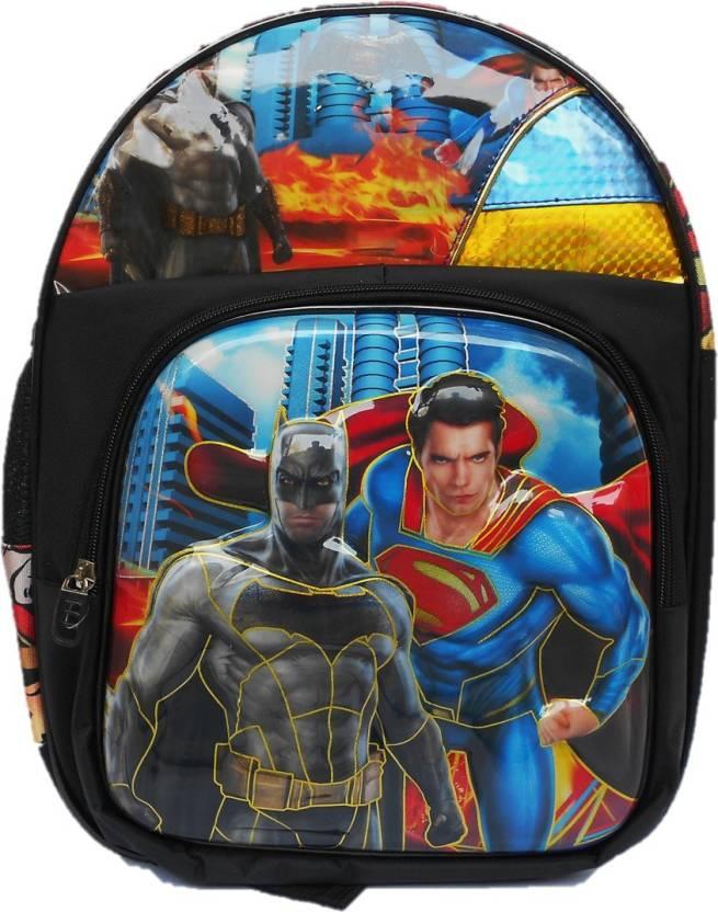 MacRaiL 17 inches 3-d printed School Bag For kids- batman School Bag Pack  Age Group (4-10 Years) School Bag (Black caadbc2d8b3ad