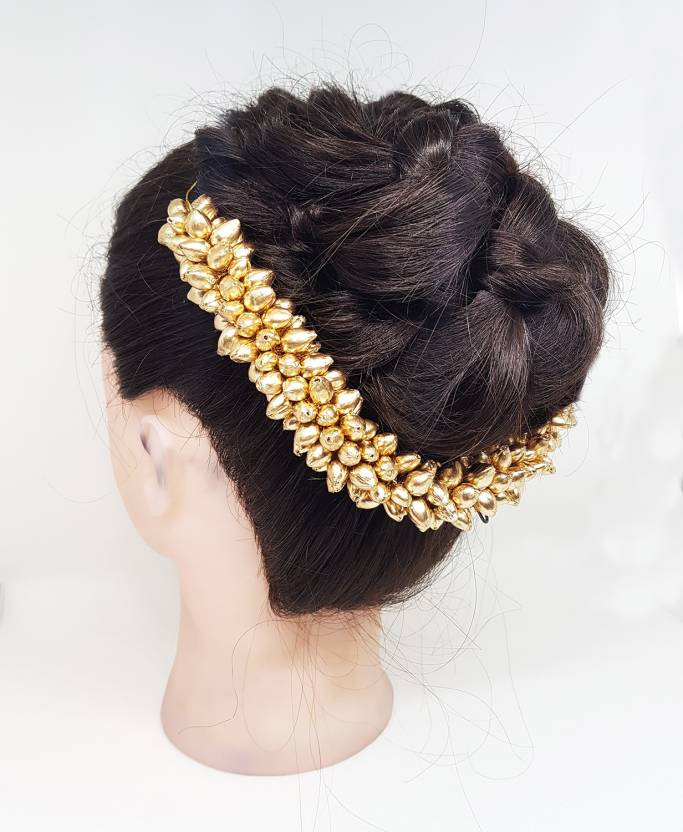 0552a888c59bf Fully Hair Accessories For Women Bun Decoration gajra Bun Price in ...