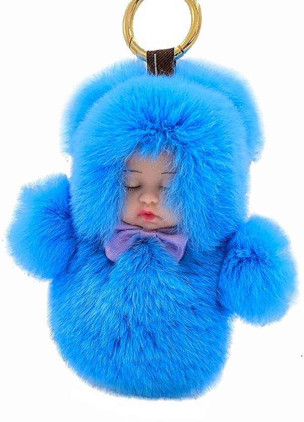 DALUCI Cute Sleeping Baby Doll 13cm Rabbit Fur Keychain Fluffy Pom Pom  Keyring Bag Car For Women Key Chain Price in India - Buy DALUCI Cute  Sleeping Baby ... d824b22009e9
