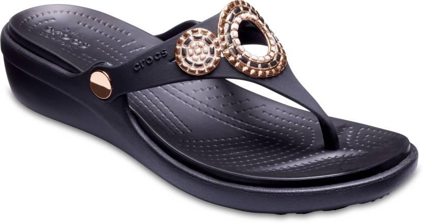 537b0f7262260f Crocs Women Black Wedges - Buy Crocs Women Black Wedges Online at Best Price  - Shop Online for Footwears in India