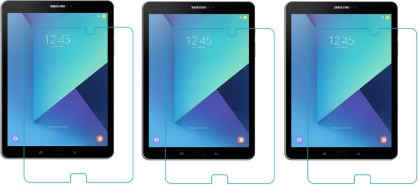 ACM Tempered Glass Guard for Samsung Galaxy Tab S3 Sm T825 9.7 Pack of 3