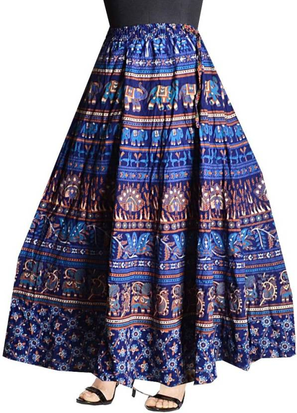 33da5fa7c47db Silver Organisation Printed Women's Wrap Around Multicolor Skirt - Buy  Silver Organisation Printed Women's Wrap Around Multicolor Skirt Online at  Best ...