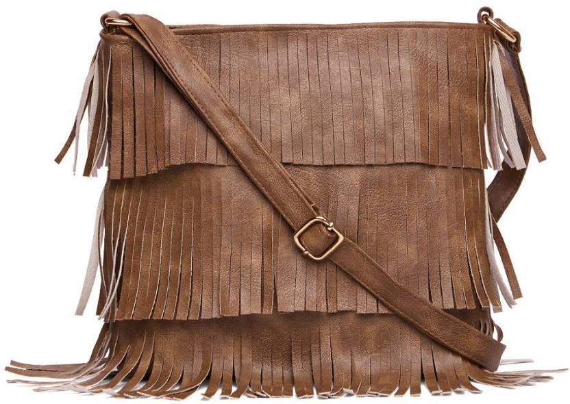 d4d5b31e0b Alessia74 Women Casual Tan PU Sling Bag TAN - Price in India ...