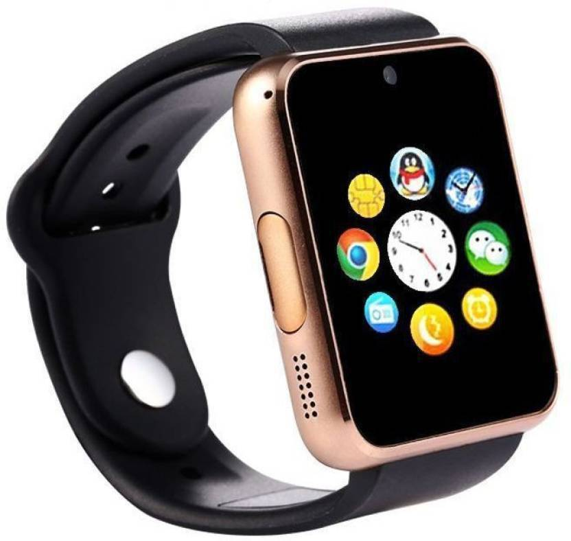 26711fc3055 Padraig A1 Gold Smart watch with camera