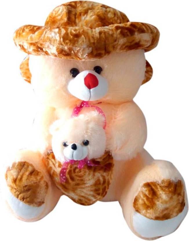 492dd57c252 ATTRACTIVE 3 FEET SOFT SITTING CAP   MOTHER BEAR TEDDY BEAR - 90 cm  (Multicolor)