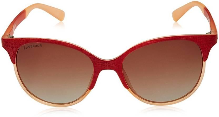 eadeb4e5373 Buy Fastrack Clubmaster Sunglasses Brown For Men   Women Online ...