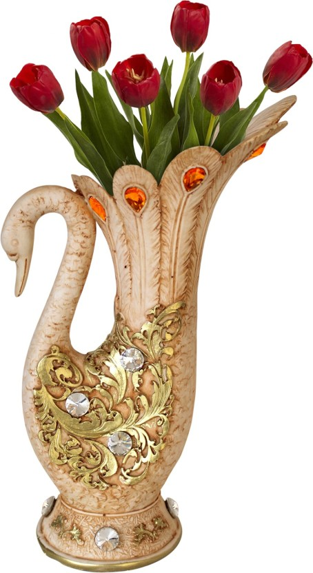 304 & Tied Ribbons Peacock shape Flower Vase Pot decorative piece ...