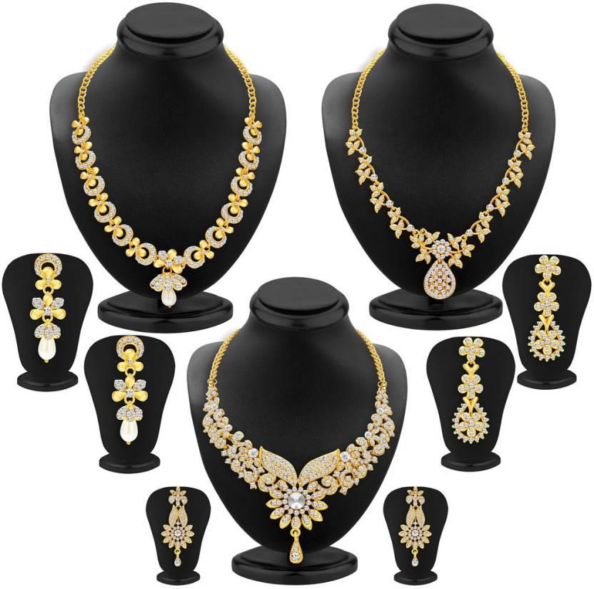 Wedding Wear Bridal Gold Necklace Set Rs 150000 Set: Sukkhi Alloy Jewel Set Price In India