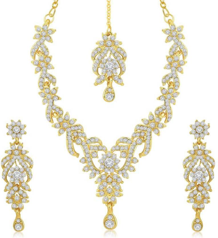 Sukkhi Zinc Jewel Set  (Gold)