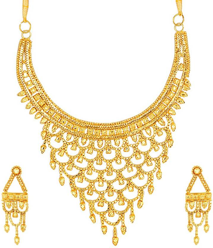 Styylo Fashion Alloy Jewel Set  (Gold)