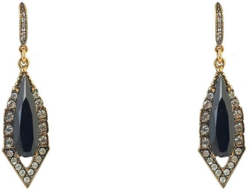 63bf4975fbf3 Flipkart.com - Buy Bling Bag Black Geometric Earrings Alloy Drop Earring  Online at Best Prices in India