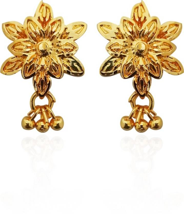 4dcec5fd5 Flipkart.com - Buy Kriaa by JewelMaze Gold Plated Dangler Earrings-1311748  Alloy Dangle Earring Online at Best Prices in India