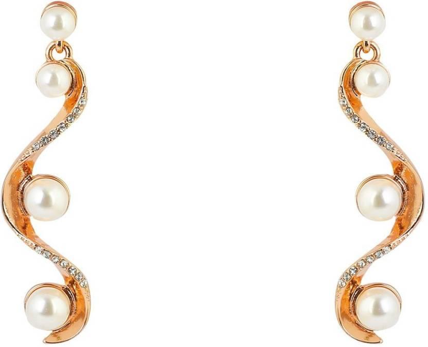 180119647403 Flipkart.com - Buy Bling Bag Pearl Earrings Alloy Dangle Earring Online at Best  Prices in India