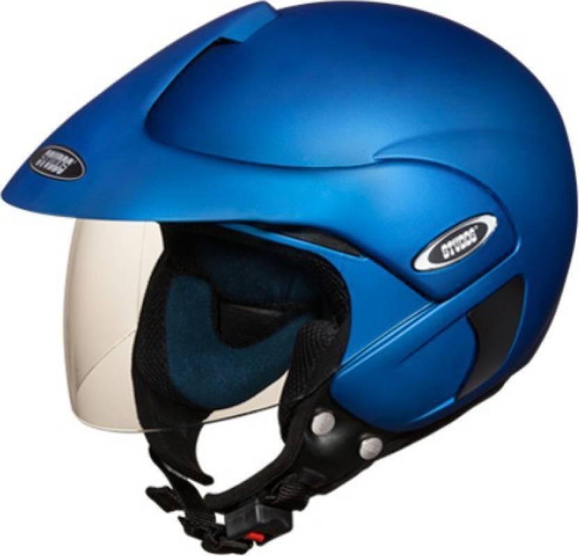 studds marshall motorsports helmet matt blue motorbike helmet