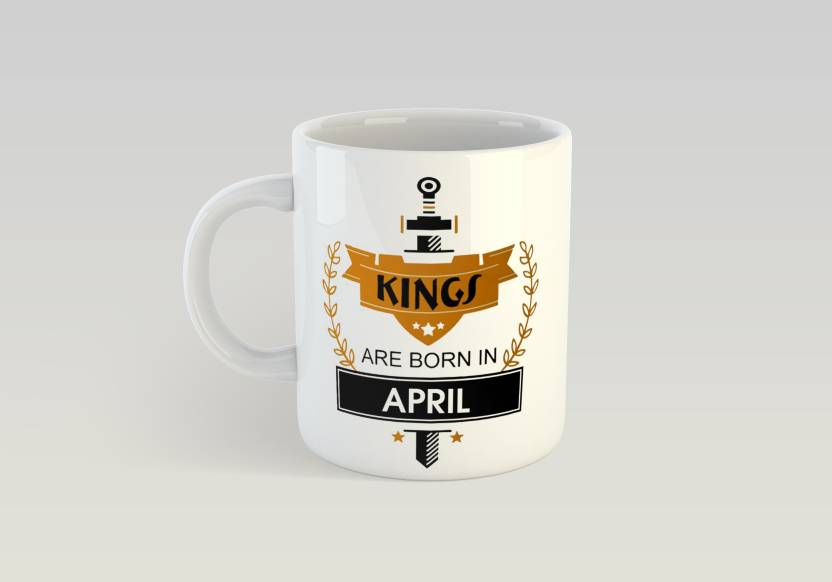 Thirsty Guys Kings Are Born In April For Brother Boyfriend Lover Husband Best Friend Birthday Gifts Happy Coffee Ceramic Mug 325 Ml