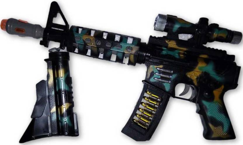 Bonkerz Toy Gun With 3D Lights And Sound Effect For Kids - Toy Gun