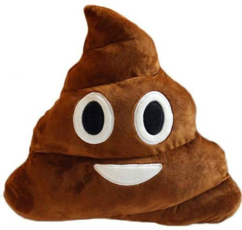 Deals India Smiley Emoji Dark Brown Poop Cushion Pillow Stuffed Plush Toy  35 cm - 35 cm (Multicolor) 1626426a7