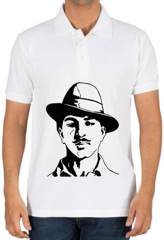 62a069066 Gomars Printed Men's Peter Pan Collar Orange T-Shirt - Buy Gomars ...