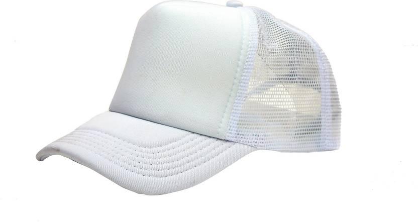 bd78f17a ODDEVEN Solid White Solid Half Net, Baseball, Trucker Caps, Mesh cap Cap -  Buy White ODDEVEN Solid White Solid Half Net, Baseball, Trucker Caps, Mesh  cap ...
