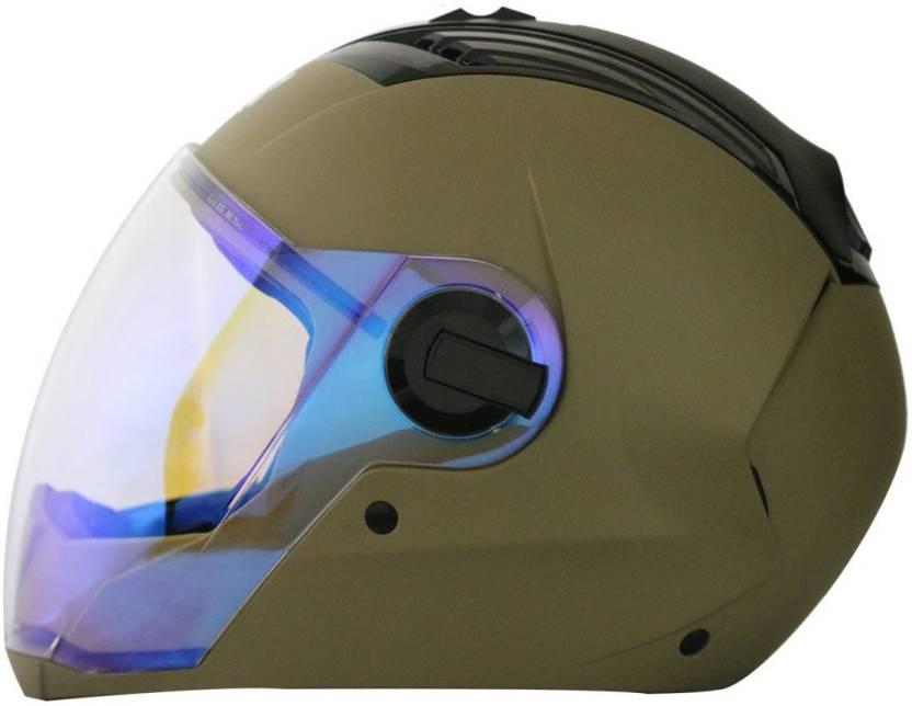2e30b24f Steelbird AIR SBA-2 NIGHT VISION Motorbike Helmet (MATT DESERT STORM)