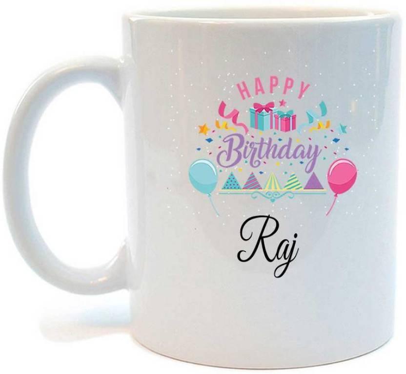 Juvixbuy Happy Birthday Raj Printed Coffee Ceramic Mug Price In