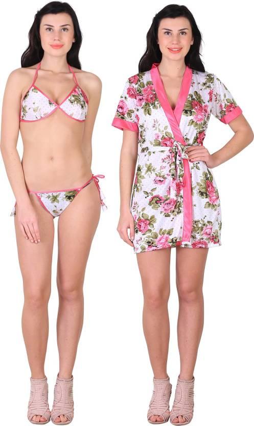 382d970d1d Shararat Women Robe and Lingerie Set - Buy Shararat Women Robe and ...