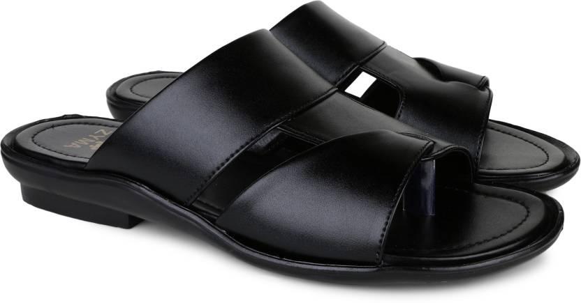 5d4ce326cf Zyma Men Black Sandals - Buy Zyma Men Black Sandals Online at Best Price -  Shop Online for Footwears in India
