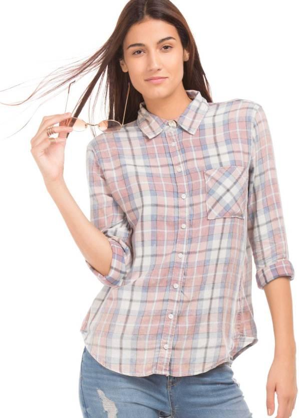 9fefe3b787a Aeropostale Women Checkered Casual Multicolor Shirt - Buy Aeropostale Women  Checkered Casual Multicolor Shirt Online at Best Prices in India