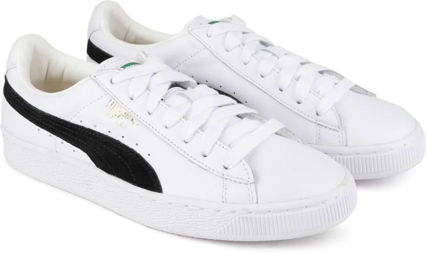 a1c358891f3b Puma Basket Classic Sneakers For Men - Buy white-black Color Puma ...