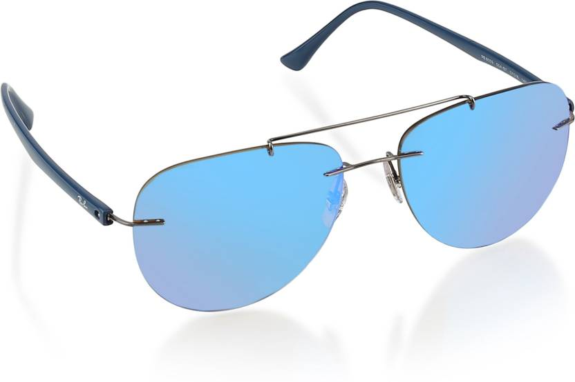 Buy Ray-Ban Aviator Sunglasses Blue For Men Online   Best Prices in ... 334da0a15880