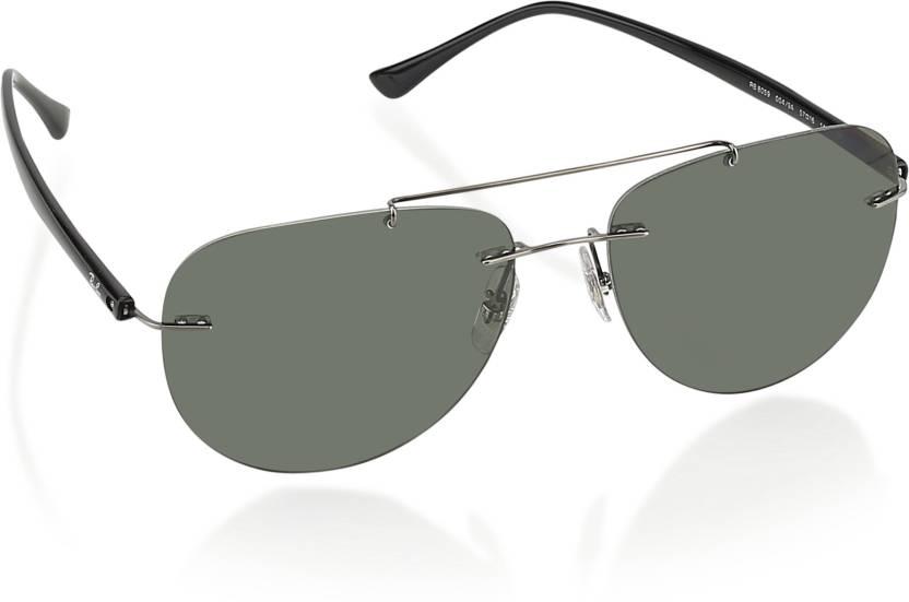 96bbf939d3 Buy Ray-Ban Aviator Sunglasses Green For Men   Women Online   Best ...