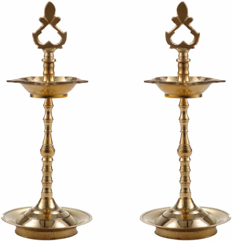 Zishta Traditional Brass (Pital) Oil Lamps: Karaikudi