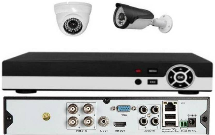 SPYON FULL HD 4 CHANNEL DVR 1080 P WITH 2 MEGA PIXEL DOME