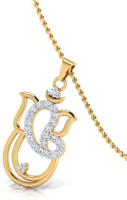 b09f0f54c3863 IskiUski Balchandra Ganesh Pendant Gold-plated Swarovski Crystal ...