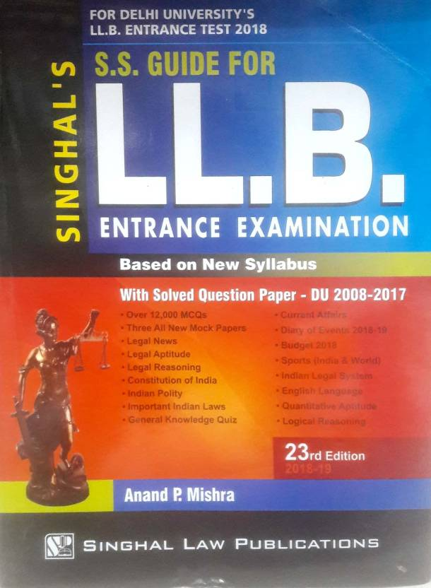 Amazon. In: buy s. S. Guide for llb entrance examination based on.