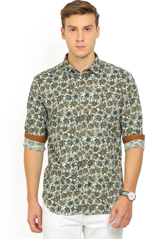 b38c4eb8d14439 LP Louis Philippe Men's Floral Print Casual Multicolor Shirt - Buy Green LP Louis  Philippe Men's Floral Print Casual Multicolor Shirt Online at Best Prices  ...