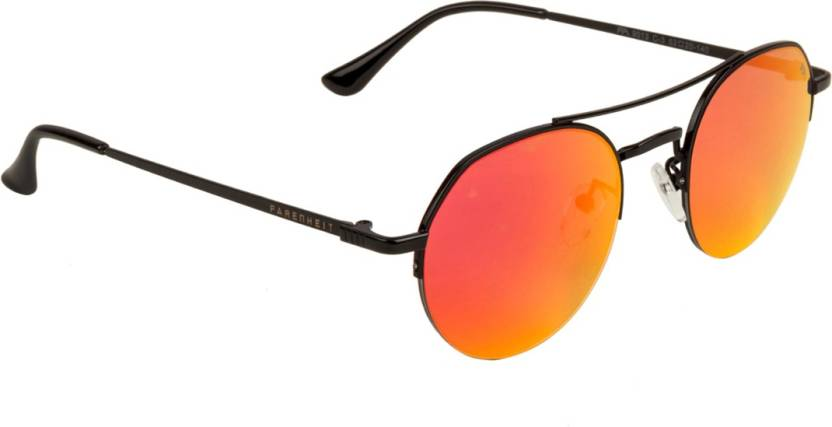 8b3a3eb94cc Buy Farenheit Round Sunglasses Red For Men   Women Online   Best ...