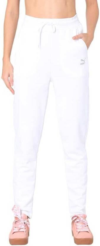 be977f59b Puma Solid Women White Track Pants - Buy Puma Solid Women White ...
