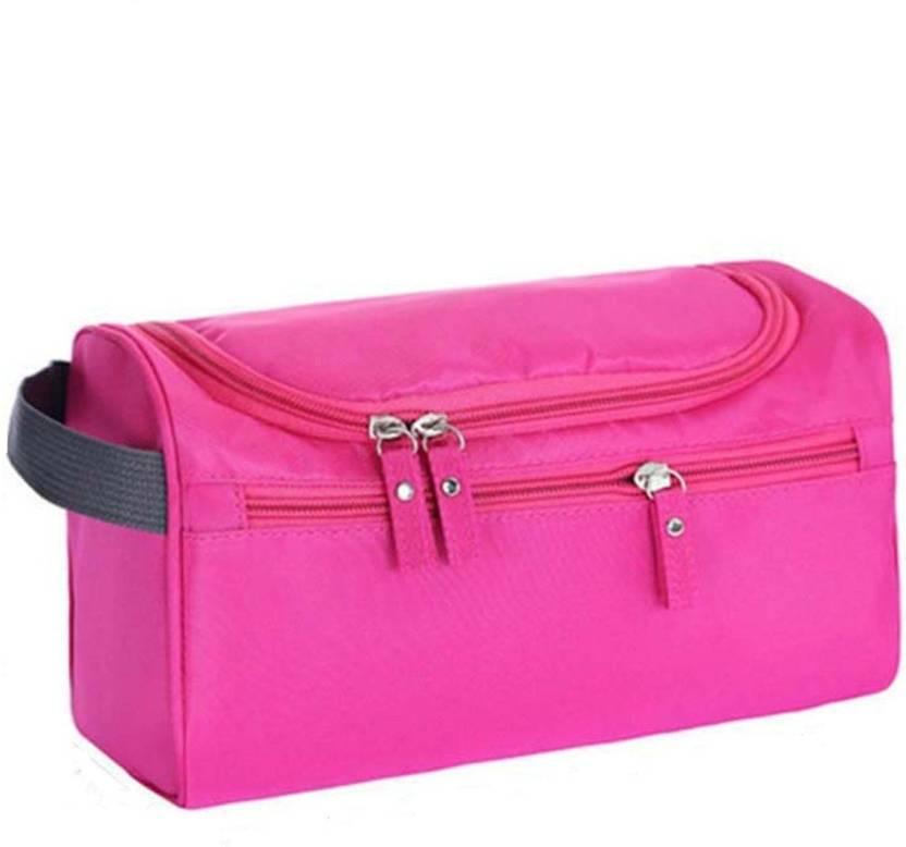 3097fcff6e74 GOCART Cosmetic Make Up Bag Toiletries Travel Hanging Bag Organizer Travel  Toiletry Kit (Pink)