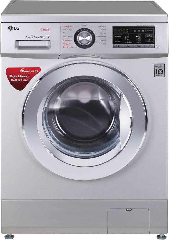 LG 9 kg Fully Automatic Front Load Washing Machine Silver Price in