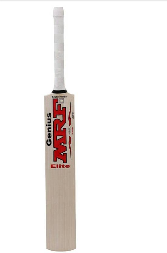 090236241 MRF MRFEW Genius Elite Cricket Bat English Willow Cricket Bat (Short  Handle