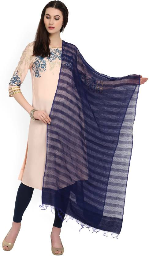 f06b21a50d Aurelia Viscose Striped Women Dupatta - Buy BLUE Aurelia Viscose ...