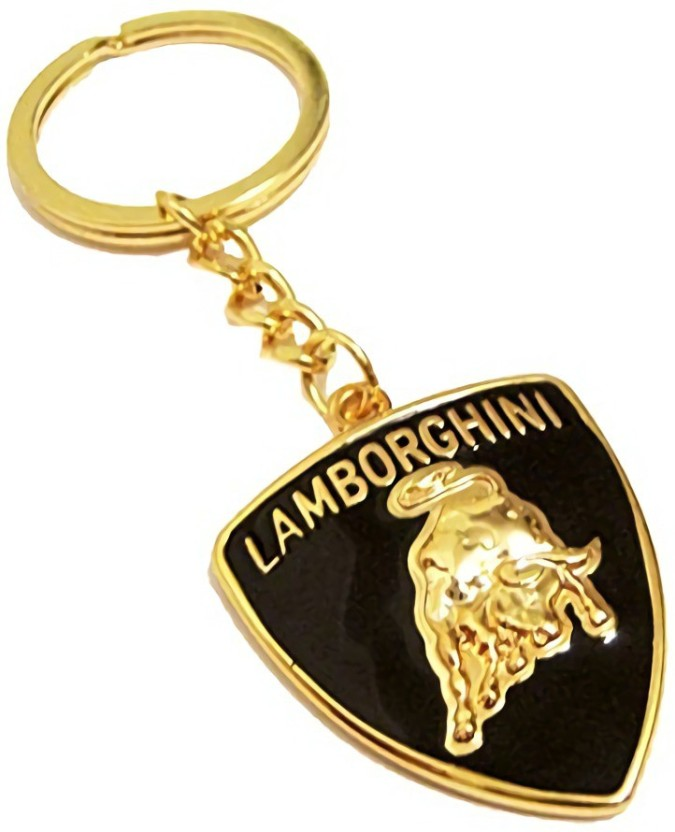 LAMBORGHINI KEY RING LARGE IN GOLD COLOR